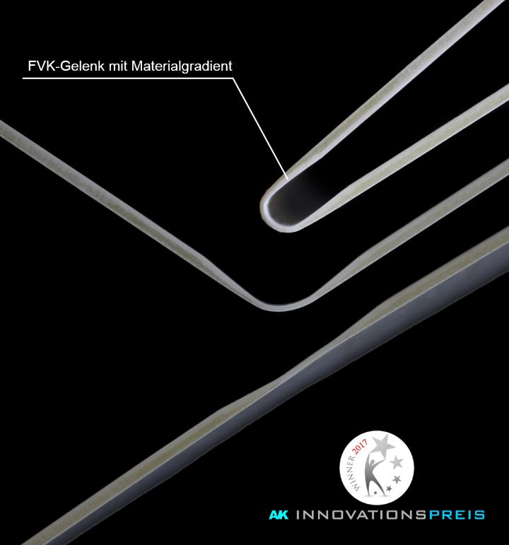 AVK prämiertes FVK Gelenk (kontinuierliche Biegebewegung) (c)